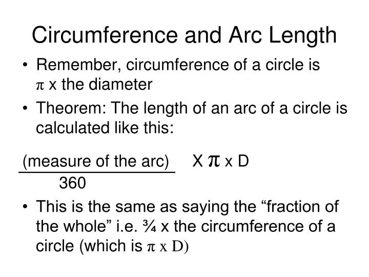 Circumference and Arc Length