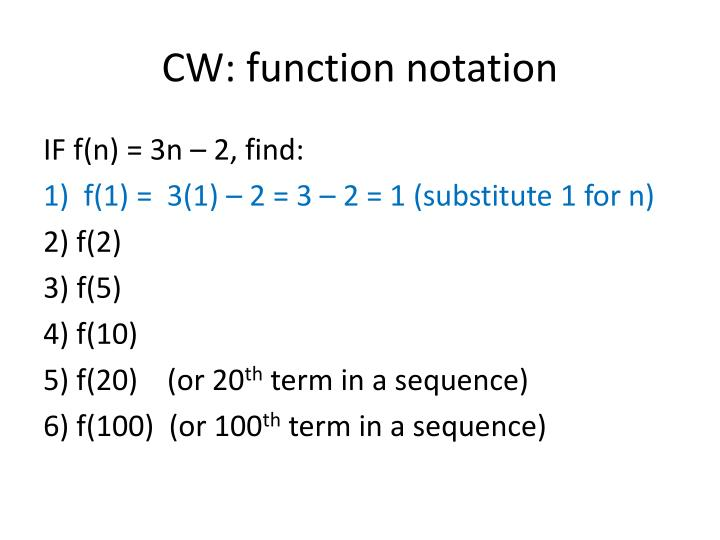 CW: function notation