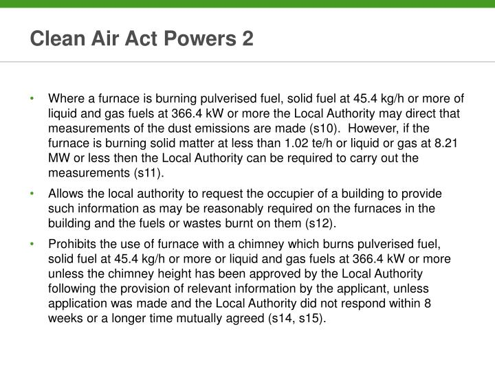Clean Air Act Powers 2