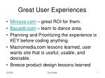great user experiences
