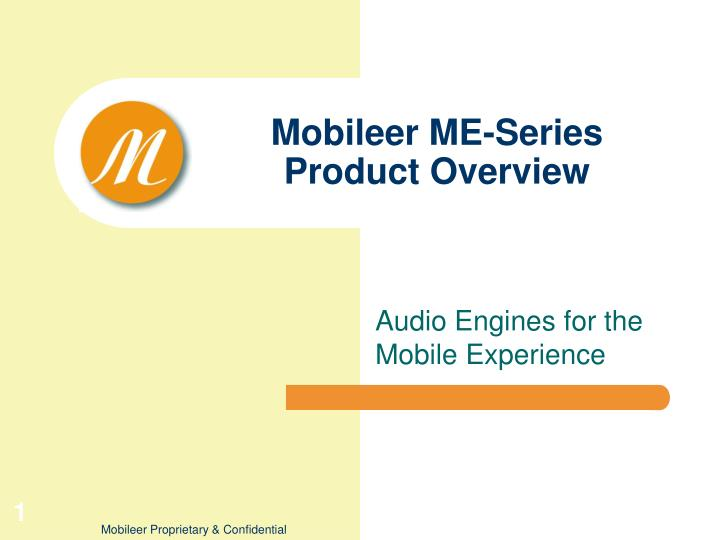 mobileer me series product overview n.