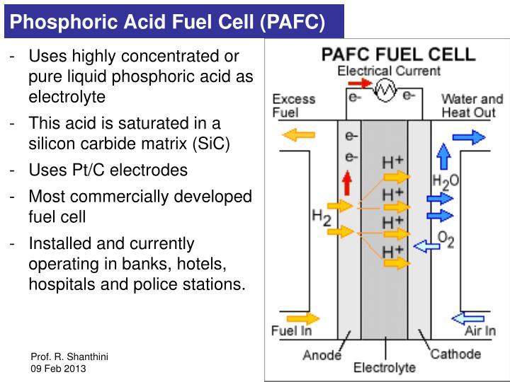 Phosphoric Acid Fuel Cell (PAFC)