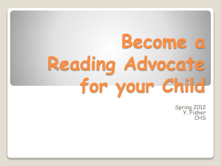 become a reading advocate for your child n.