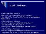 label linkbase