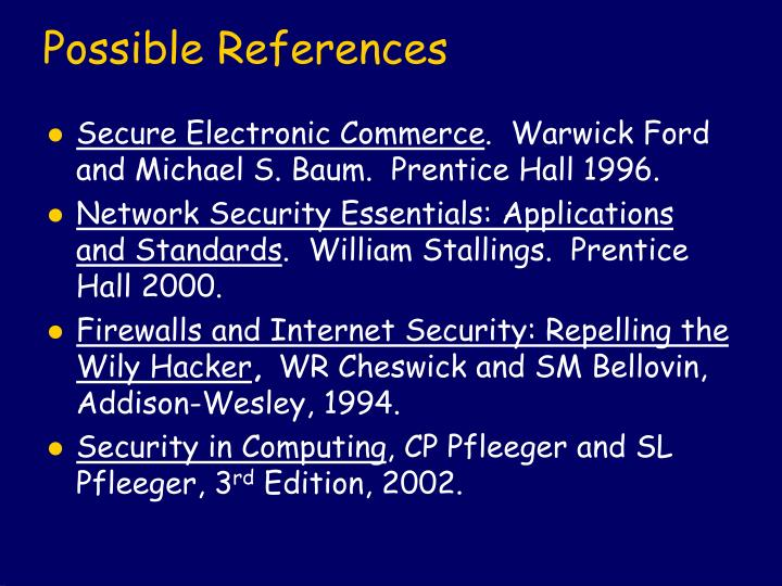Possible References