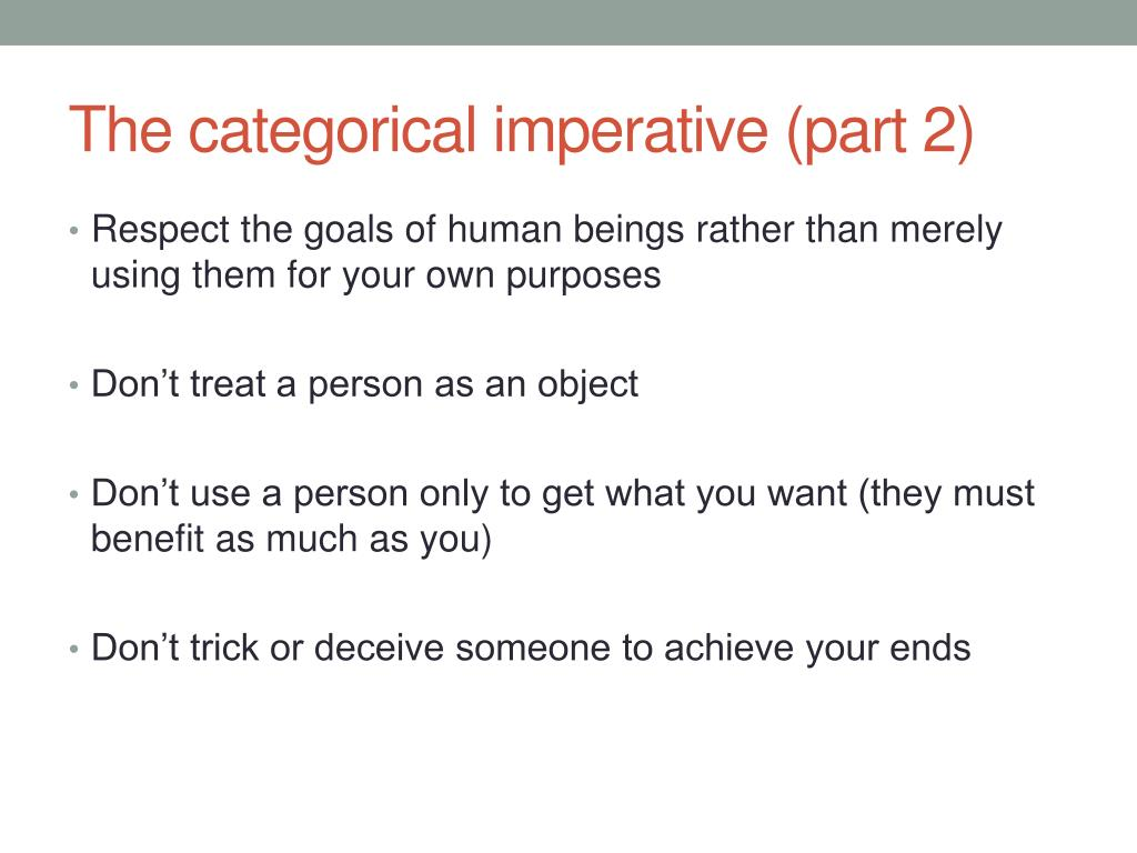 Ppt The Categorical Imperative Powerpoint Presentation Free Download Id 4390588