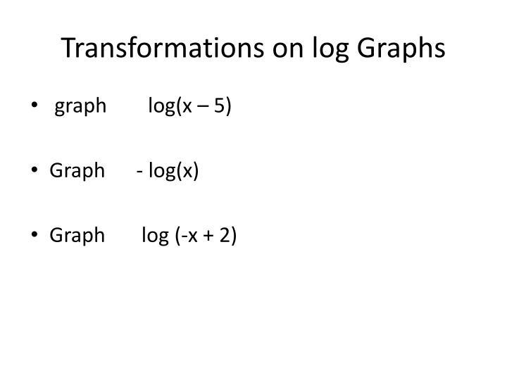 Transformations on log Graphs
