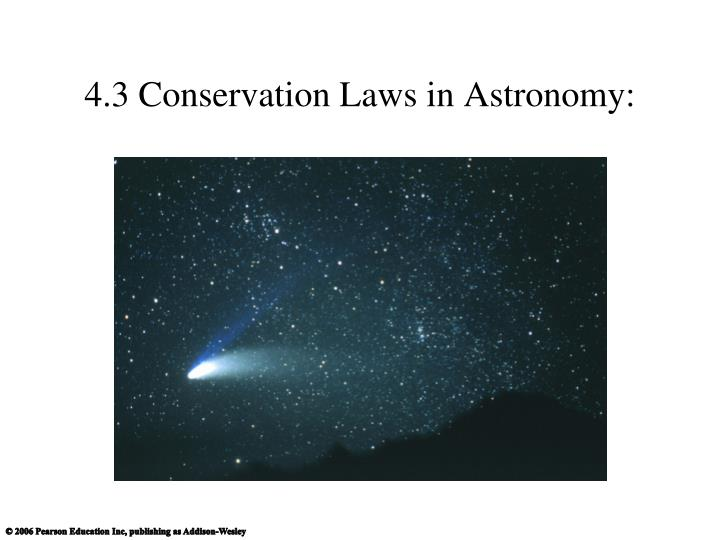 4 3 conservation laws in astronomy n.