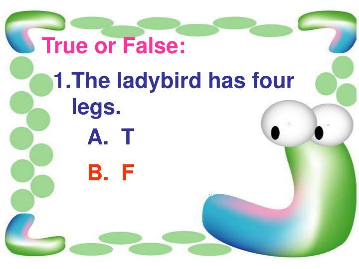 True or False: