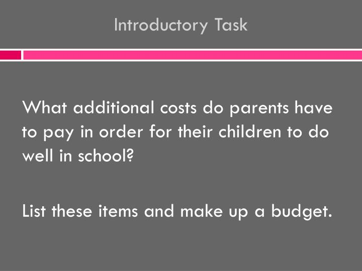introductory task