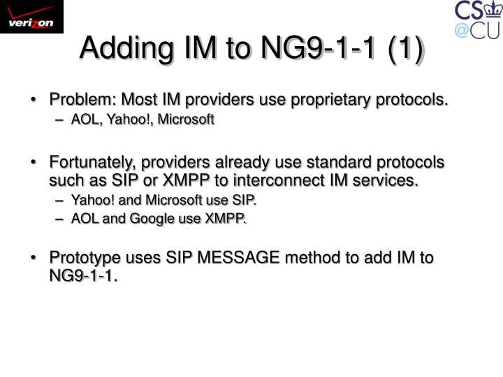 Adding IM to NG9-1-1 (1)