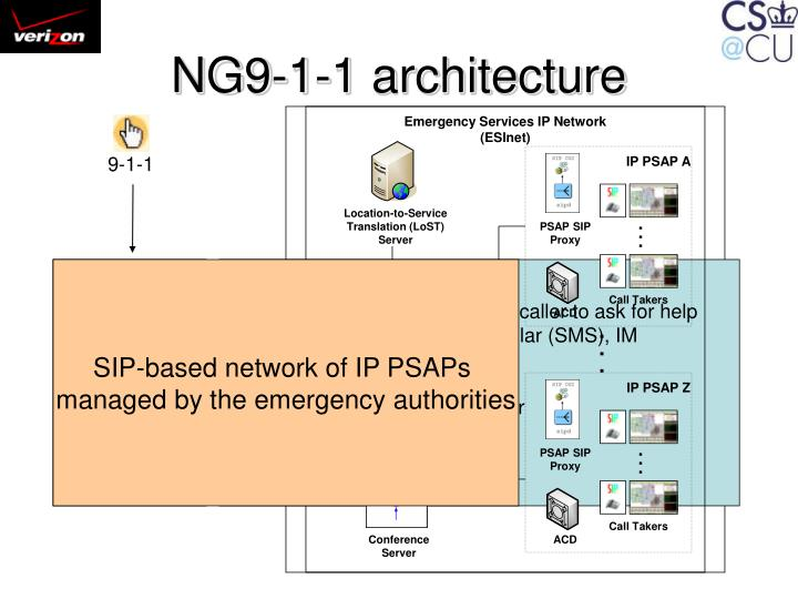 NG9-1-1 architecture