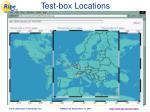 test box locations