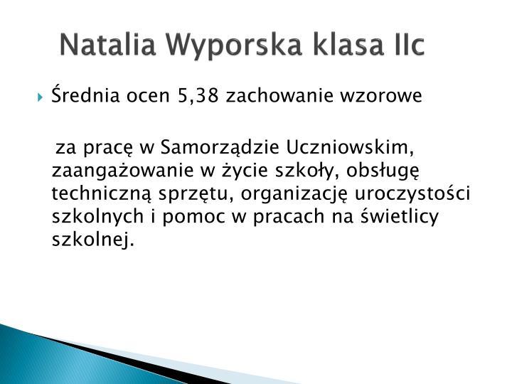 Natalia wyporska klasa iic