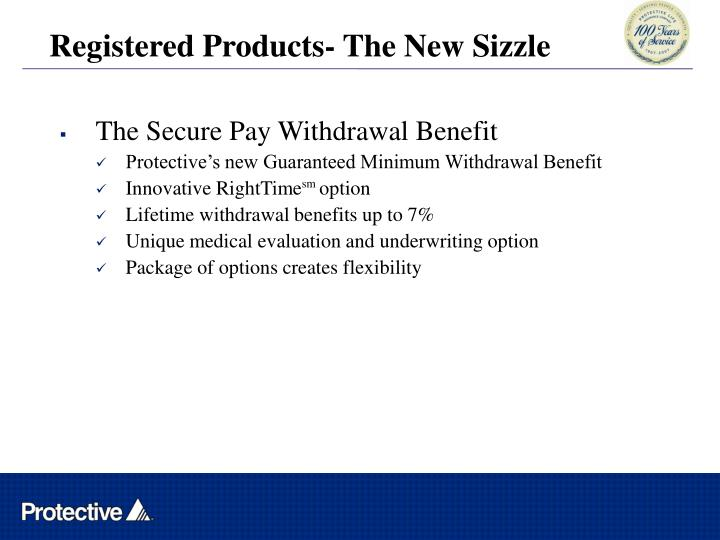 Registered Products- The New Sizzle
