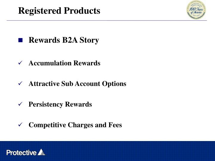 Registered Products