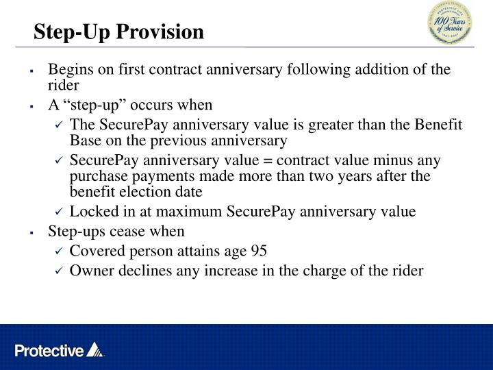 Step-Up Provision