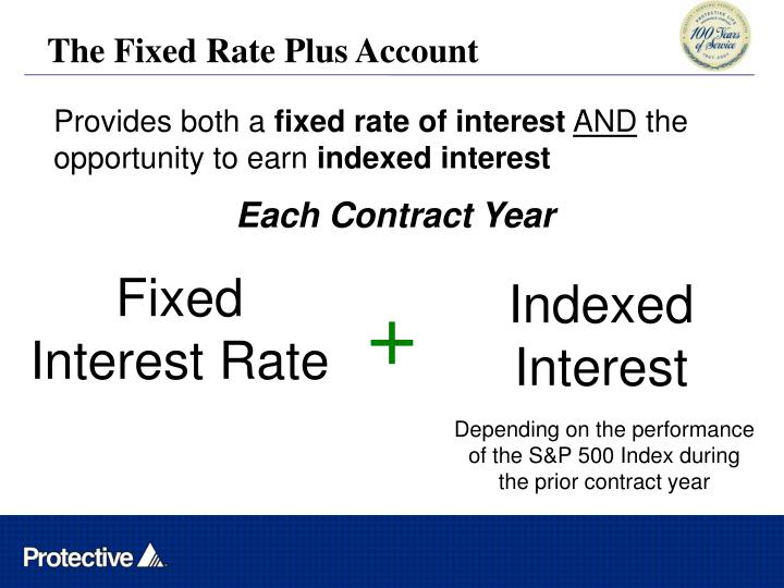 The Fixed Rate Plus Account