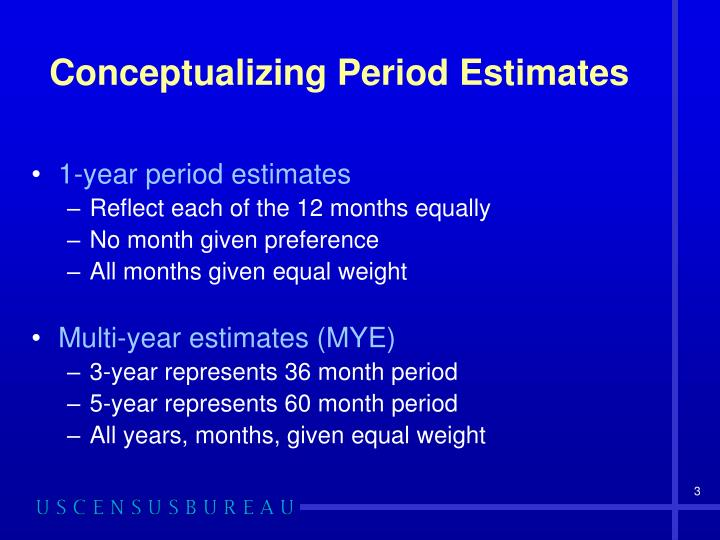 Conceptualizing period estimates