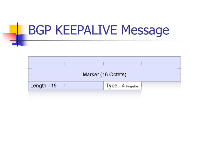BGP KEEPALIVE Message
