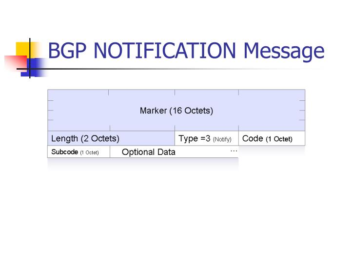 BGP NOTIFICATION Message