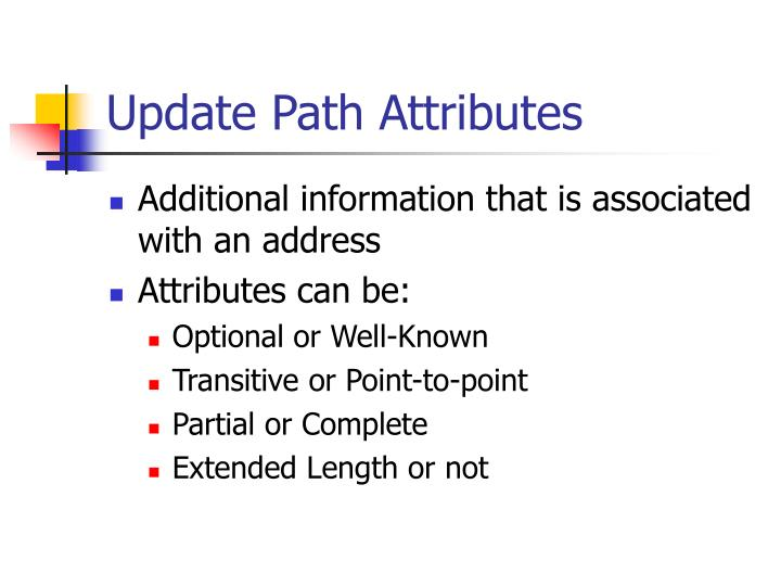 Update Path Attributes