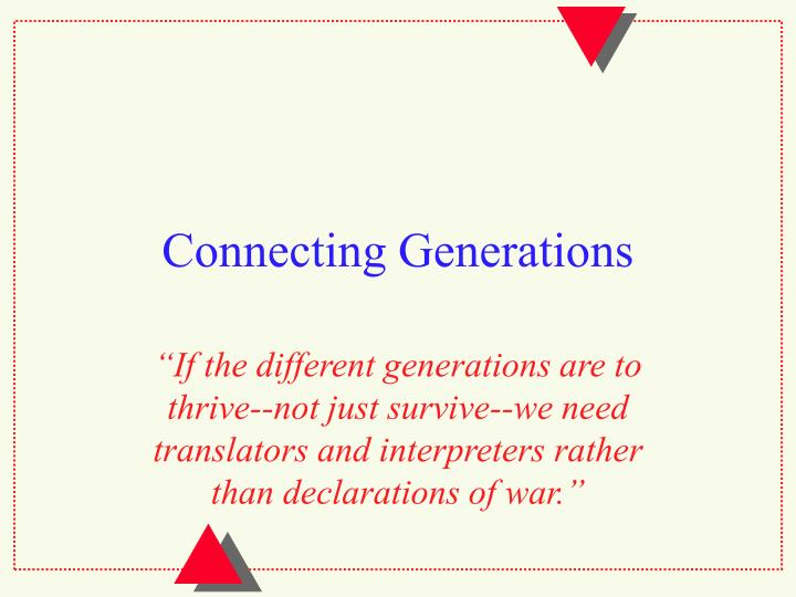 connecting generations n.