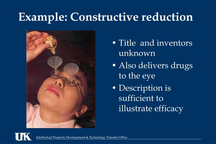 Example: Constructive reduction