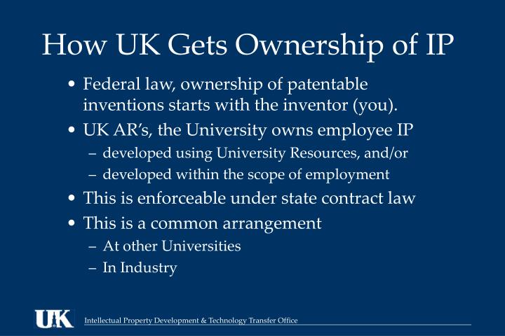 How UK Gets Ownership of IP