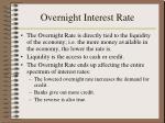 overnight interest rate1