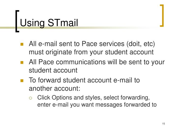 Using STmail