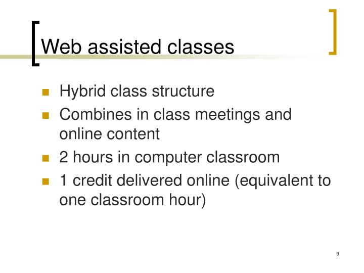 Web assisted classes