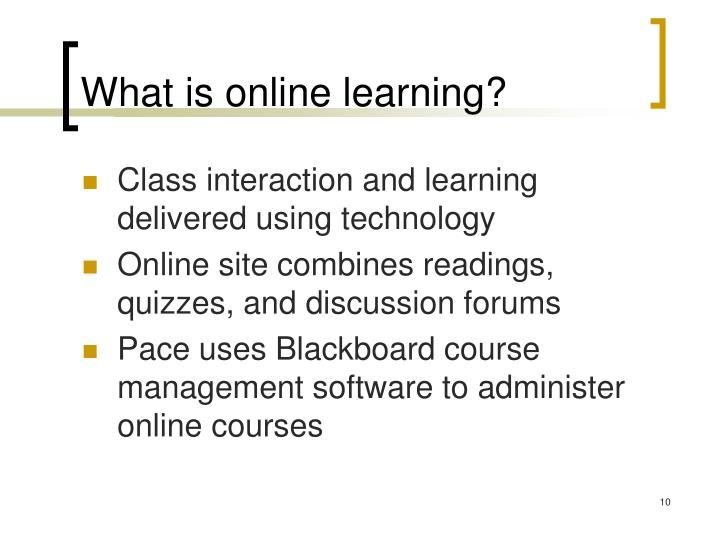 What is online learning?