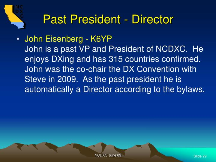 Past President - Director