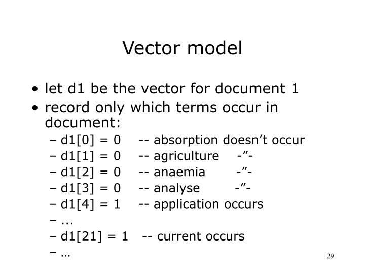 Vector model
