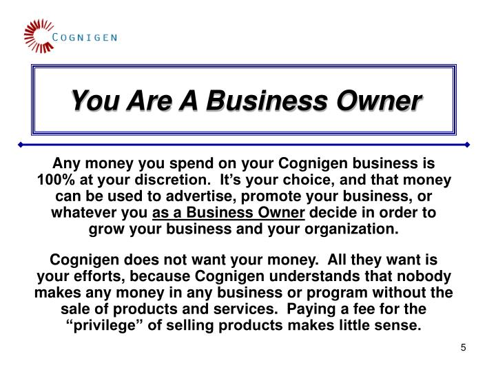 You Are A Business Owner