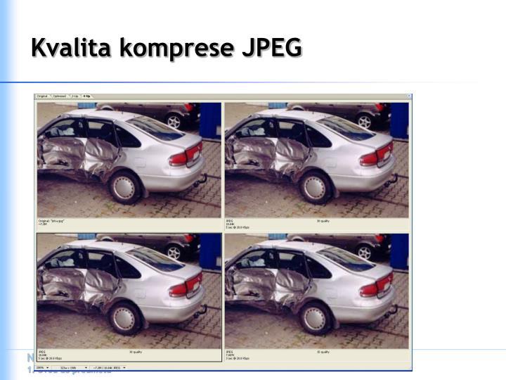 Kvalita komprese JPEG