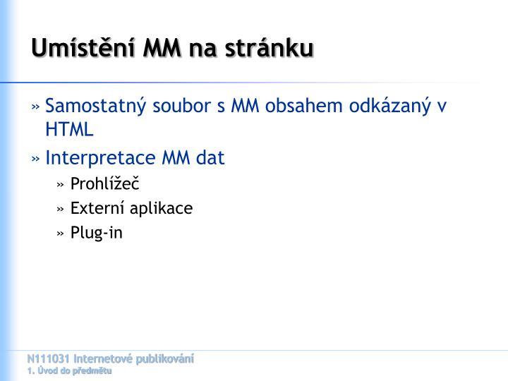 Umístění MM na stránku