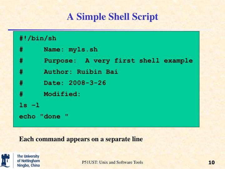 A Simple Shell Script