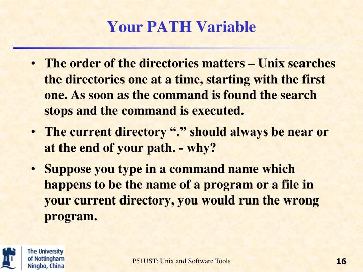 Your PATH Variable