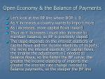 open economy the balance of payments