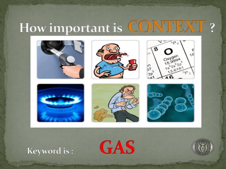 Keyword is gas