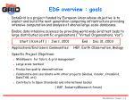 edg overview goals