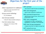 objectives for the first year of the project