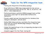 tasks for the wp6 integration team