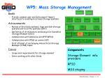wp5 mass storage management