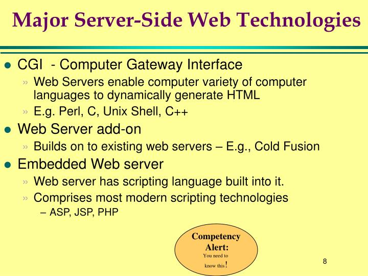 Major Server-Side Web Technologies