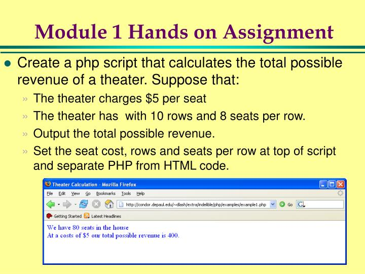 Module 1 Hands on Assignment