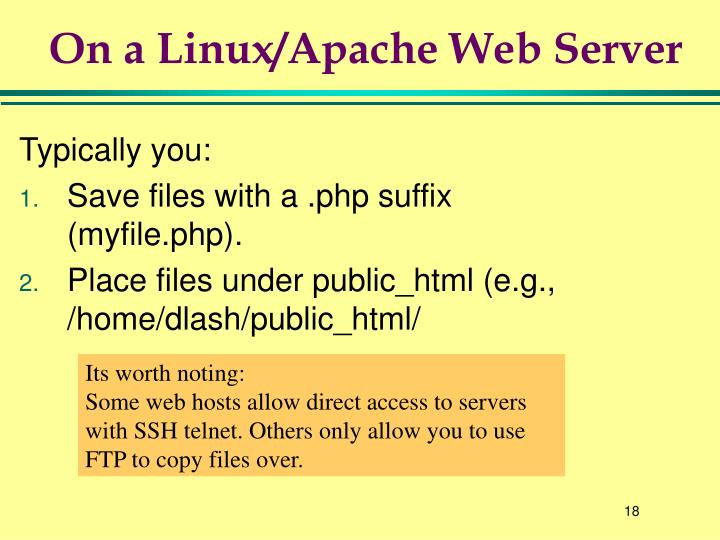 On a Linux/Apache Web Server