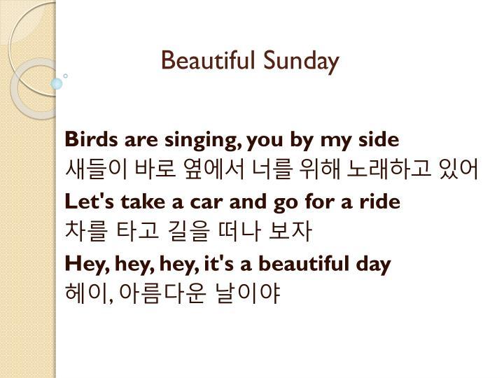 Beautiful Sunday